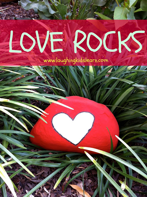 Mother's Day love rocks gift idea