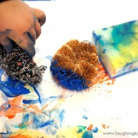 Painting with Kitchen Scrubbers