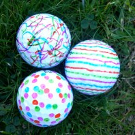Decorating golf balls for father's day gift