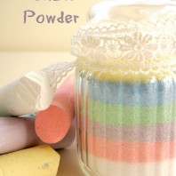 Homemade Chalk Powder