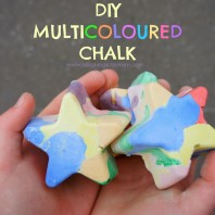 DIY Homemade Multicoloured Chalk