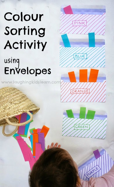 Colour Sorting Activity using Envelopes