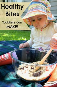 Healthy bite recipe toddlers can make!
