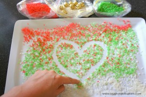 Create a Christmas Scene with Rice