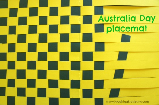 Australia Day how to make a paper placemat craft for kids