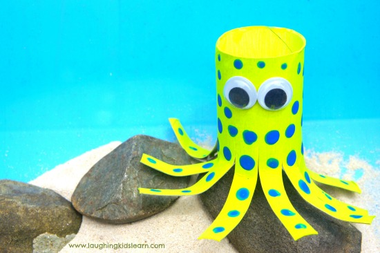 Blue Ringed octopus craft for kids