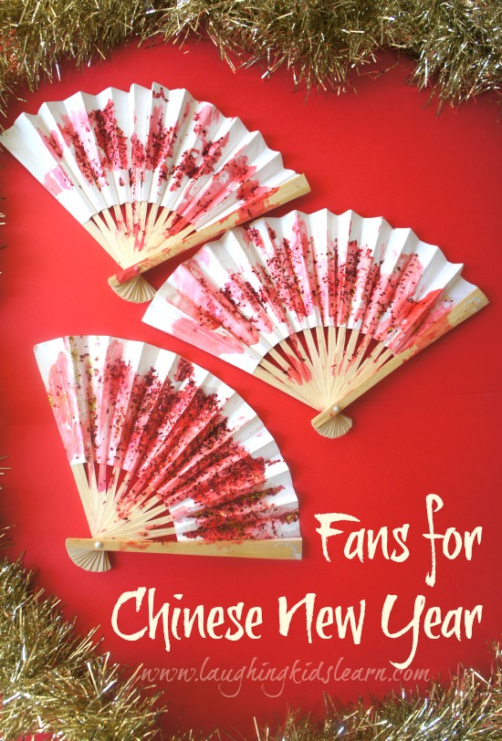 Decorating Fans craft for Chinese New Year