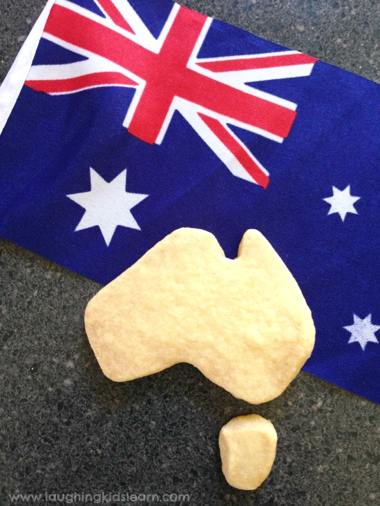 Flag of Australia and Buscuit