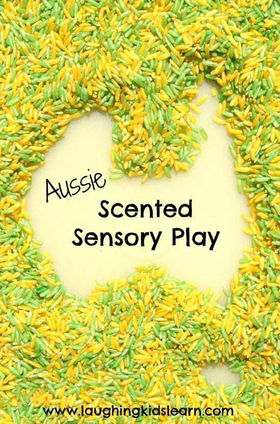 Australia Sensory Rice play for kids