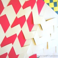How to weave paper craft