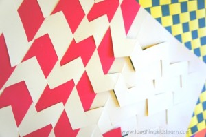 How to make paper weaving placemats