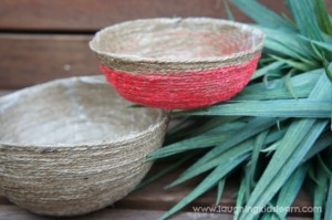 How to make a string bowl with kids