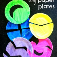 Homemade puzzles for toddlers using paper plates