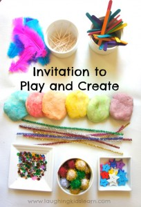 Invitation to Play and Create using play dough
