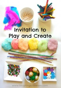 Invitation for children to play and create =