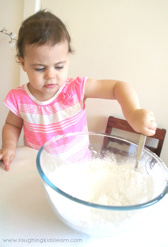 Easy to make play dough using only 2 ingredients