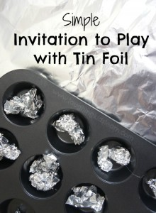 Simple invitation to learn and play with tin foil