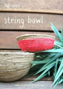 Kids craft - how to make a string bowl