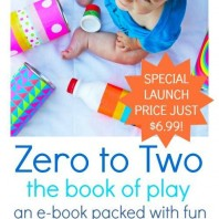 Baby and Toddler ebook full of play based ideas you can simply do at home.