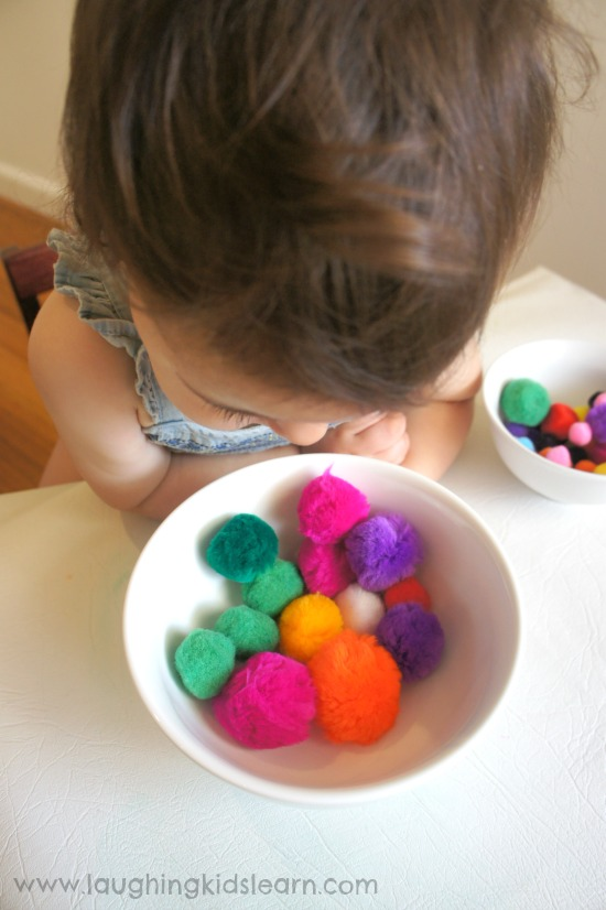 Toddler checking for mistakes