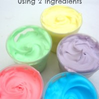 Bath Paints using 2 ingredients