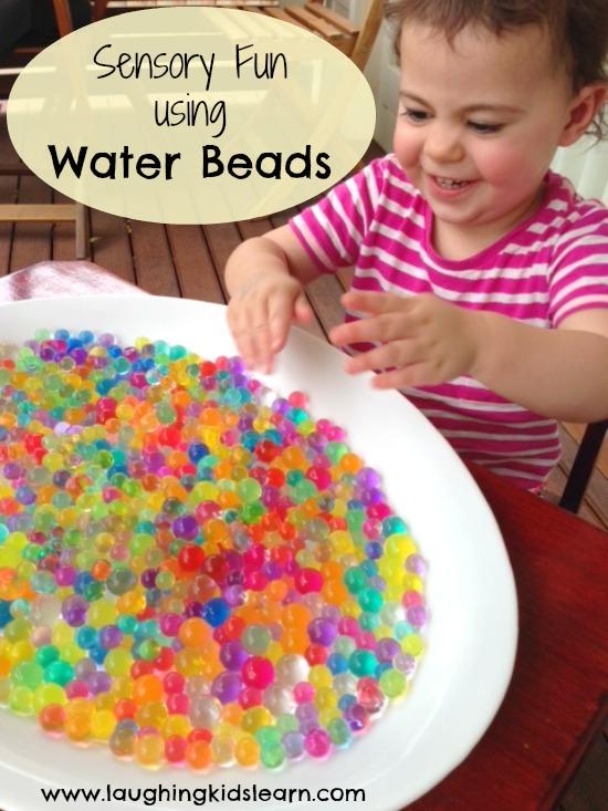 Sensory Fun using Water Beads