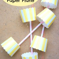 DIY simple paper planes for kids on a windy day