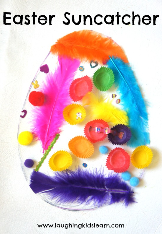 Easter Suncatcher using bits and pieces