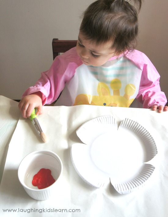 Setting up anzac day craft for kids