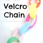 Fine motor activity in making velcro chains
