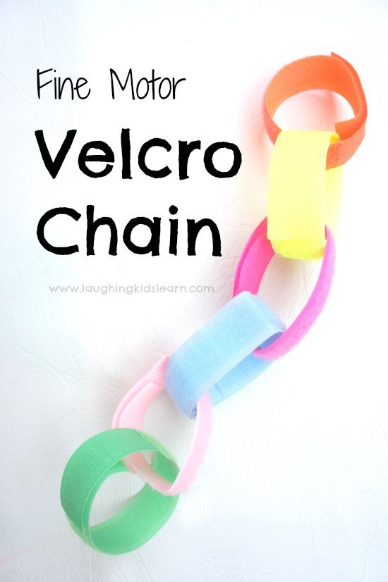 Fine motor velcro chains for kids