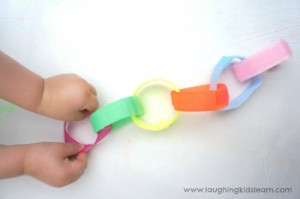 Simple velcro chain activity that children will love