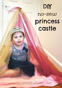 DIY no sew princess castle