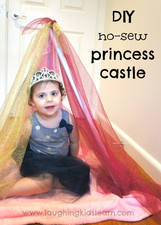 DIY no sew princess castle