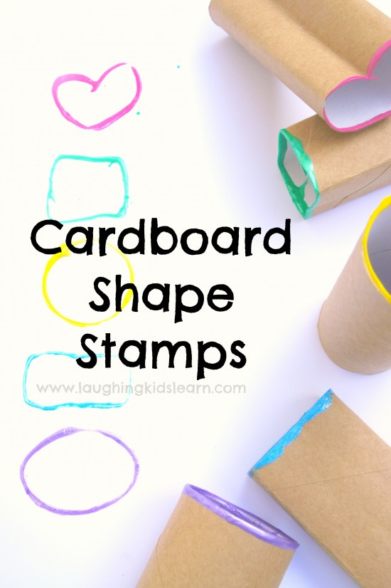 cardboard shape stamps using paint