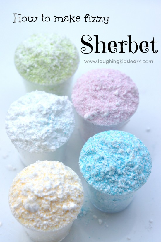 How to make sherbet. Simple recipe that is also a great science activity for kids