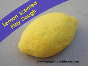 lemon scented play dough