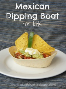 Old El Paso mexican dipping boat for kids