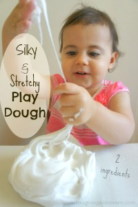 Silky stretchy play dough for kids to play with