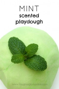 mint scented play dough