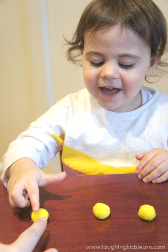 one to one correspondence toddler counting