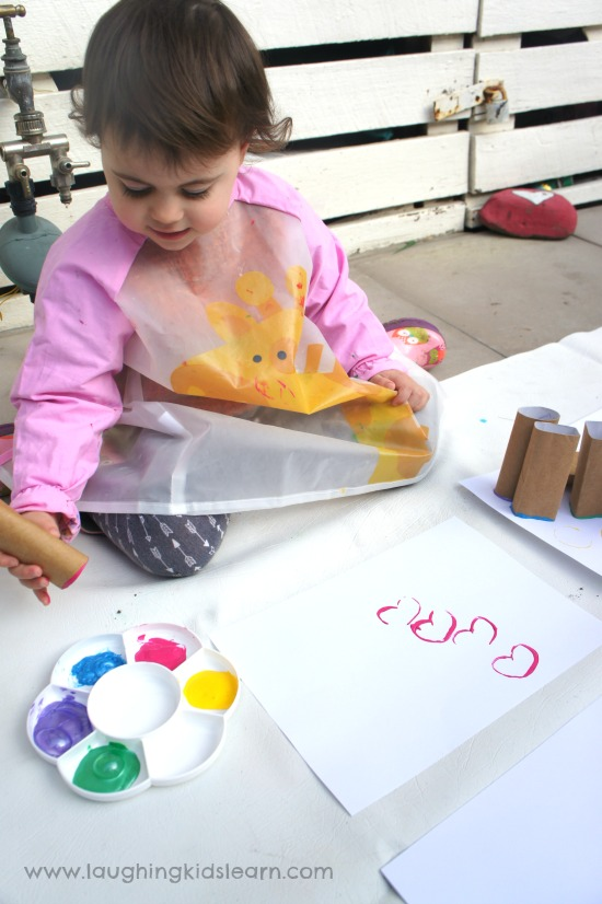outdoor activity stamp painting