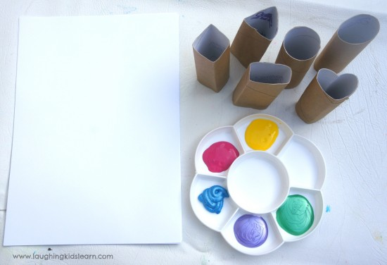 Paper paint and printing stamps