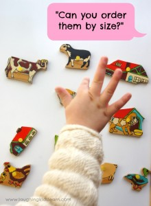 ordering, sorting and grouping magnets game