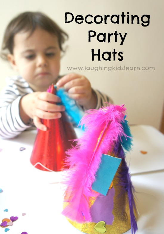 decorating party hats activity