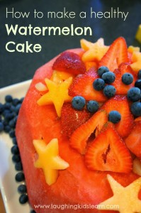 How to make a healthy watermelon cake