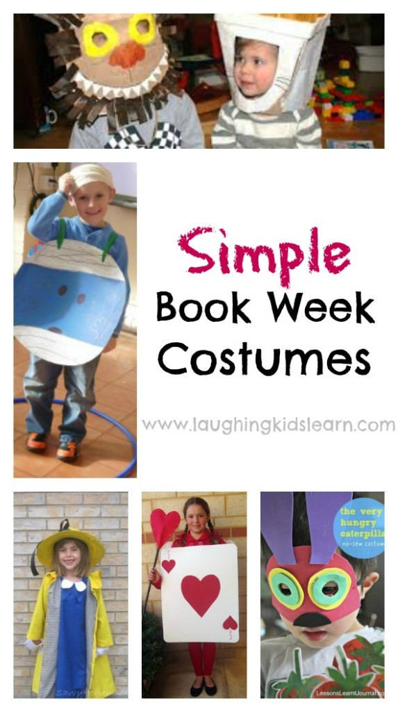 Simple Book Week Costumes for kids to wear to school