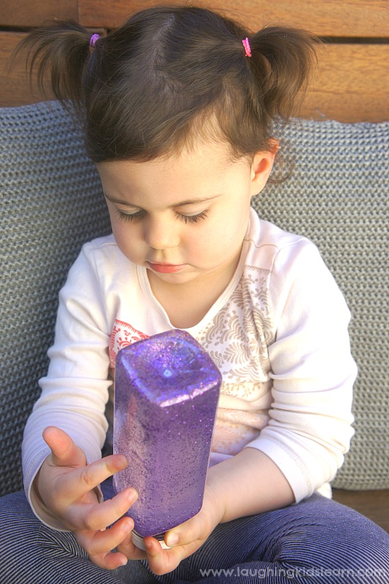 DIY Calming and quiet time glitter bottle