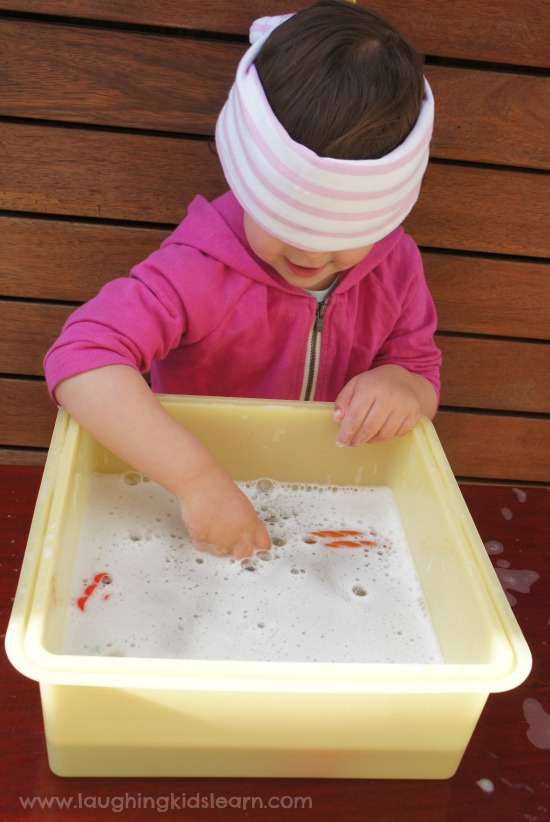 hidden LEGO pieces for sensory play with kids