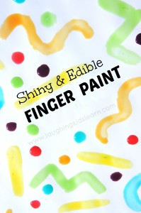 Homemade edible and shiny finger paint